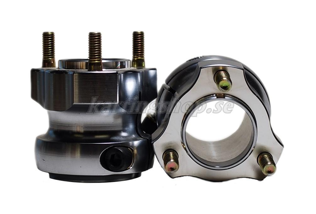 Nav bak aluminium Ø40 x 65mm, OBS. pris/styck