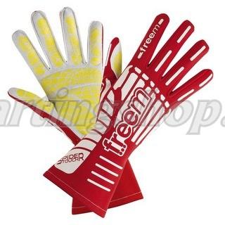 Freem Spider röd karting handskar storlek 7