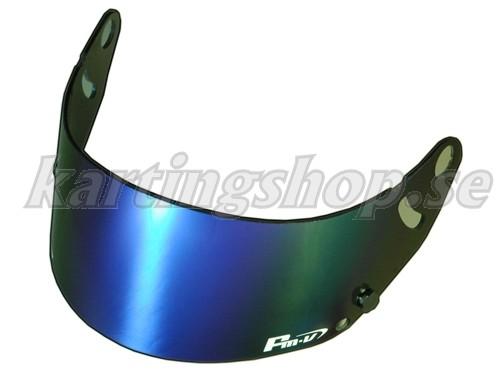 FMV blå iridium visir mörkt (passar GP-5 GP-5S SK-5)