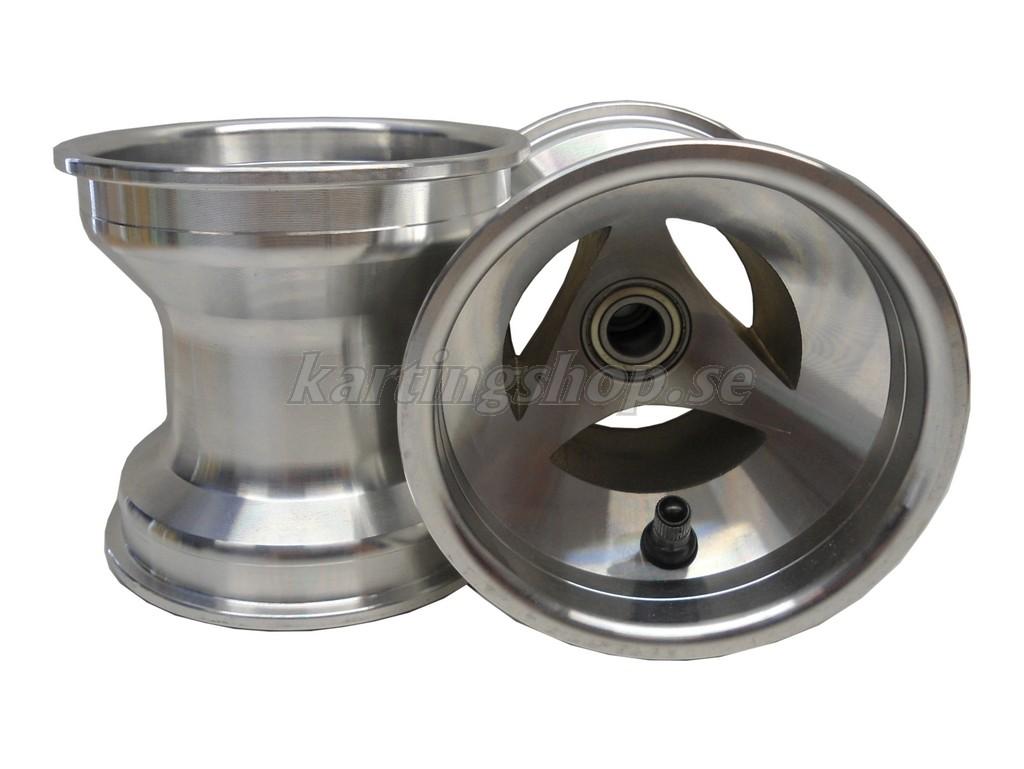 Framfälgar 125mm Alu ventilerad (med Ø17mm lager)