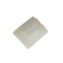 Självhäftande kvadratisk nylon bas med clip Ø5mm,19x10mm 10st