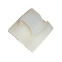 Självhäftande kvadratisk nylon bas med clip Ø10mm,26x13mm 10st