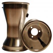 Bakfälgar 210 mm Alu med däcklås