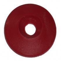 Försänkt  bricka 8x30mm, plast röd