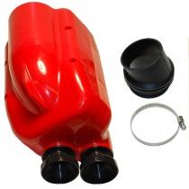 Insugsljuddämpare NOX röd/svart rör Ø23mm