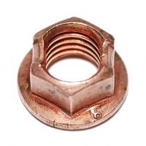 Flänsmutter M8, 10mm nyckel, förkopprad stål