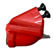 Insugsljuddämpare ACTIVE Noise röd rör Ø23mm , CIK/FIA 28/SA/24