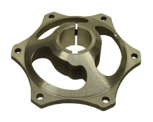 Drevcentrum Ø35mm aluminium 6mm kil